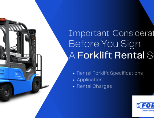 Important Considerations Before You Sign A Forklift Rental Service